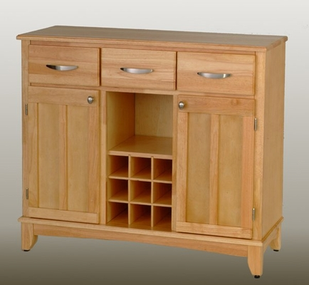 Buffet - Natural Wood Buffet with Wood Top - Home Styles - 5100-0011