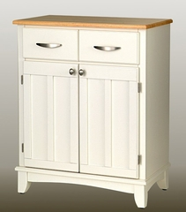 Buffet - White Buffet with Natural Wood Top - Home Styles - 5001-0021