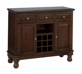 Buffet with Black Granite Top and Two Door Hutch in Cherry - Home Styles - 5300-0074-07