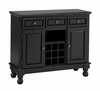 Buffet with Black Granite Top in Black - Home Styles - 5300-0044