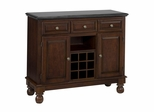 Buffet with Black Granite Top in Cherry - Home Styles - 5300-0074