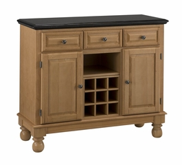 Buffet with Black Granite Top in Maple - Home Styles - 5300-0094