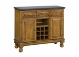 Buffet with Black Granite Top in Oak - Home Styles - 5300-0064