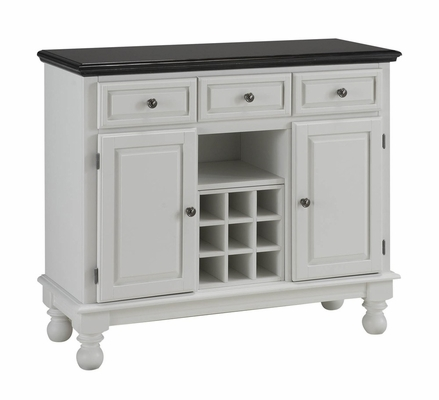 Buffet with Black Granite Top in White - Home Styles - 5300-0024