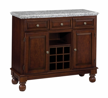 Buffet with Gray Granite Top in Cherry - Home Styles - 5300-0073
