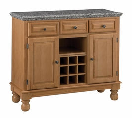 Buffet with Gray Granite Top in Maple - Home Styles - 5300-0093