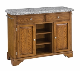 Buffet with Gray Granite Top in Oak - Home Styles - 5300-0063