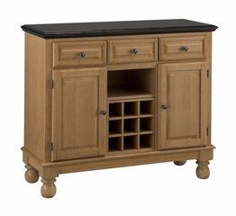 Buffet with Salmon Granite Top and Two Door Hutch in Maple - Home Styles - 5300-0095-09
