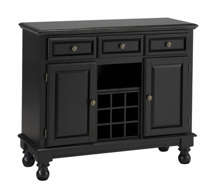 Buffet with Salmon Granite Top in Black - Home Styles - 5300-0045