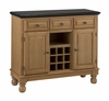 Buffet with Salmon Granite Top in Maple - Home Styles - 5300-0095