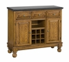 Buffet with Salmon Granite Top in Oak - Home Styles - 5300-0065
