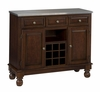 Buffet with Stainless Top in Cherry - Home Styles - 5300-0072