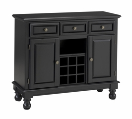 Buffet with Wood Top in Black - Home Styles - 5300-0041