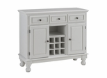 Buffet with Wood Top in White - Home Styles - 5300-0021