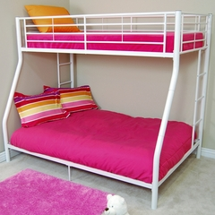 Bunk Bed - Sunrise Twin / Double Size Bunk Bed in White - BTODWH