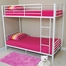 Bunk Bed - Sunrise Twin / Twin Size Bunk Bed in White - BTOTWH
