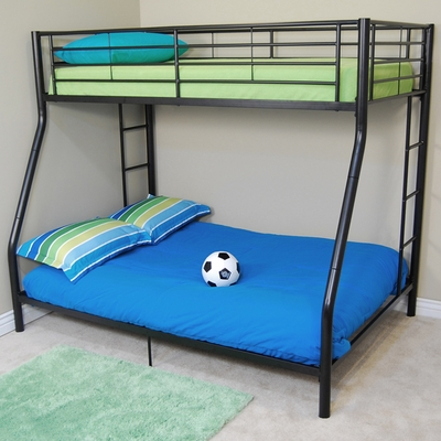 Bunk Bed - Sunset Twin / Double Size Bunk Bed in Black - BTODBL