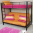 Bunk Bed - Sunset Twin / Futon Bunk Bed in Black - BTOFBL