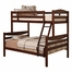 Bunk Bed - Twin / Double Size Bunk Bed in Brown - BWTODWB