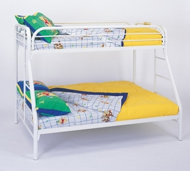 Bunk Bed - Twin / Full Size Bunk Bed in White - Coaster