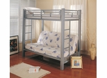 Bunk Bed - Twin / Futon Bunk Bed in Silver - Coaster