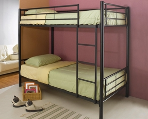 Bunk Bed - Twin / Twin Size Bunk Bed in Black - Coaster