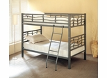 Bunk Bed - Twin / Twin Size Bunk Bed in Dark Silver - Coaster