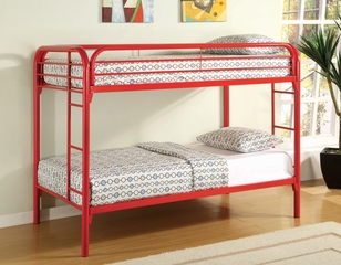 Bunk Bed - Twin / Twin Size Bunk Bed in Red - Coaster - 2256R