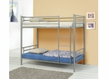Bunk Bed - Twin / Twin Size Bunk Bed in Silver - Coaster