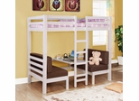 Bunks Convertible Loft Bed in Crisp White - 460273