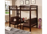 Bunks Convertible Loft Bed in Dark Rich Wood - 460263
