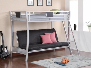 Bunks Silver Futon Metal Bunk Bed - 460024