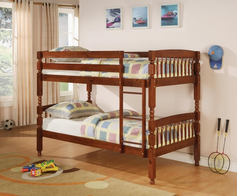 Bunks Twin Over Twin Bunk Bed in Medium Pine - 460223