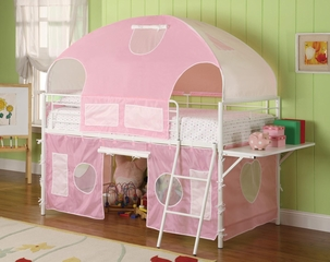 Bunks White and Pink Tent Bunk Bed - 460202