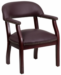 Burgundy Leather Conference Chair - B-Z105-LF19-LEA-GG