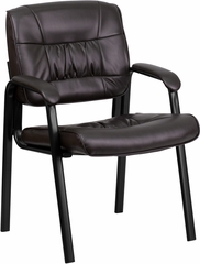 Burgundy Leather Guest / Reception Chair - BT-1404-BURG-GG