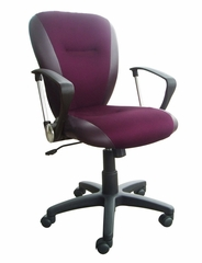 Burgundy Mesh and PU Office Chair - Lynwood - 09750