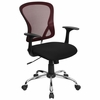 Burgundy Mesh Executive Office Chair - H-8369F-BG-GG