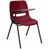Burgundy Tablet Arm Chair Desk with Right Side Tablet - RUT-EO1-BY-RTAB-GG