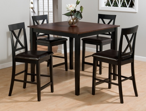 Burly 5PC Brown and Black Counter Height Table Set - 262