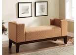 Burnt Orange U-Shaped Accent Bench - 500993
