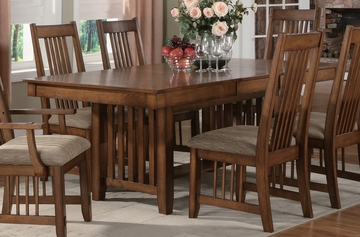 Burton Dining Table in Warm Medium Oak - Coaster - 101611