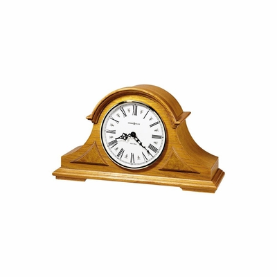 Burton Golden Oak Mantel Clock - Howard Miller