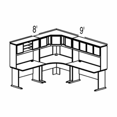 Bush Advantage Beech Design 26 - Plan For 8' by 9' Work Station
