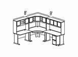 Bush Advantage Beech Design 28 - Plan For 8' by 9' Work Station