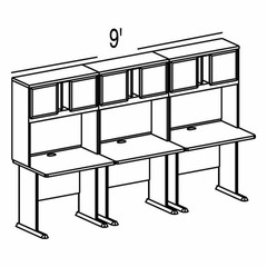 Bush Advantage Beech Design 34 - Plan For 9' Work Station