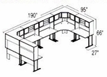 Bush Advantage Beech Design 46 - Plan For Multi-Station 8' by 8' Work Station
