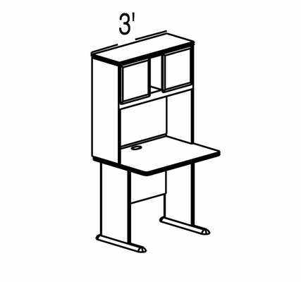 Bush Advantage Hansen Cherry Design 1 - Plan For Smaller Work Station