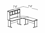 Bush Advantage Hansen Cherry Design 10 - Plan For Smaller Work Station