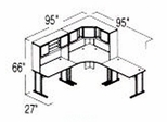 Bush Advantage Hansen Cherry Design 20 - Plan For 8' by 8' Work Station